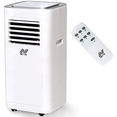 NETTA Air Conditioner Unit Portable - 8000BTU Timer, Remote Control, LED Touch Control,Cooling Fan, Dehumidifier, Adjustable Temperature, for Home, Bedroom, Living room,Office
