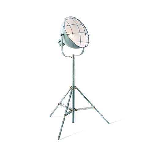 Lámpara de pie con aspecto de hormigón, trípode, estilo industrial, con certificación DEKRA en diseño robusto con casquillo E27. Lámpara de salón Ciment perfecta para LED