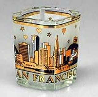 City Coffee Mugs (4 6/18) San Francisco Shot Glass Starry Night Black Gold Square Shot Glass 4 Pack