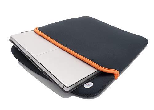 Laptop Hülle Neopren 13 Zoll extra Dicke 4mm Schutzhülle stoßfest für Laptop, Notebook, Tablet, waschbar - anthrazit - kompatibel mit MacBook Pro 13 & Surface Pro 7 (13 Zoll)