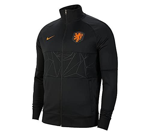 Nike KNVB Holanda Chándal Hombre, Hombre, Negro y naranja., L