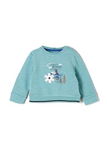 s.Oliver Unisex - Baby Sweatshirt mit Artwork-Print aqua 62