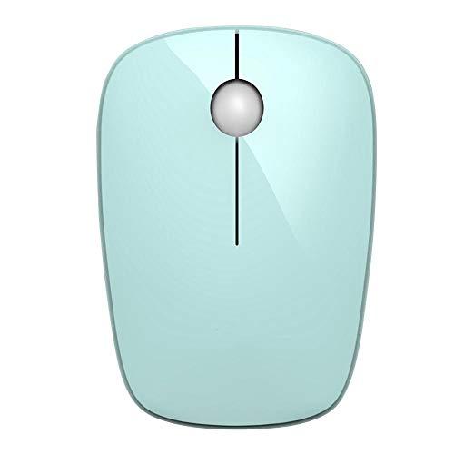 Junluck USB Wireless Mouse Computer Mice Rechargeable Mouse Best Gaming Mouse Wireless Mouse for Laptop Desktop(Green)