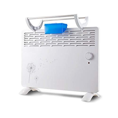 GY ventilatorkachel met 2 kW, draagbare elektrische ventilatorkachel, 3 instelbare standen, instelbare temperatuur, gemonteerd aan de muur of vrijstaand voor badkamer met dubbel doel, wit