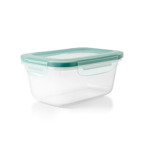 OXO Good Grips SNAP Behälter, 1,1 L, Plastik, transparent / blau, 17,52 x 16 x 12,77 cm