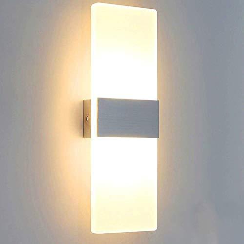 Lightess 12W Wandleuchte LED Innen Modern Wandlampe Treppenhaus up and down Innenleuchten Flurlampe LED für Wohnzimmer Korridor Schlafzimmer Warmweiss
