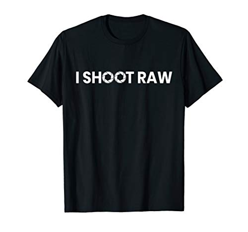 Fotografen T-Shirt - I Shoot Raw Kamera Blende Spiegelreflex T-Shirt