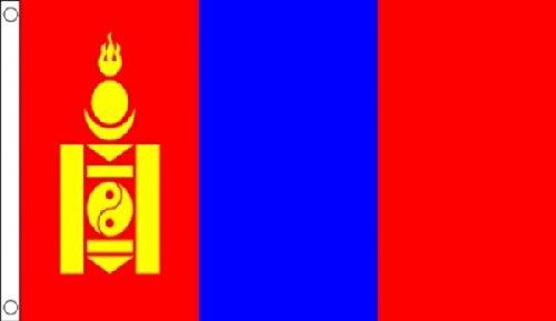 Flagge der Mongolei, 150x 90cm, 100 % Polyester, Banner, ideal für Kneipen, Clubs, Schule, Festival, Büro, Party-Dekoration