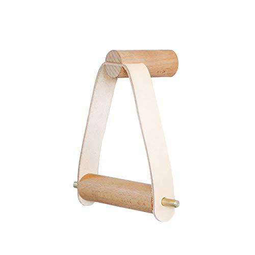 Vkospy Holz Rolled WC Halter Badezimmer Badezimmer Lagerung Speicher Handtuchspender Toilettenpapier Rack