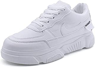 FYXKGLa Small White Shoes Women's Platform Sports Shoes Korean Version of The Wild Casual Student Flat Shoes (Color : White, Size : 35EU)