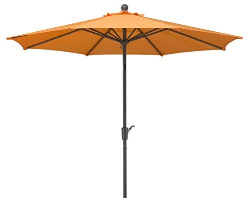 Schneider Sonnenschirm Harlem, mandarine, 270 cm rund, Gestell Aluminium/Stahl, Bespannung Polyester, 5 kg