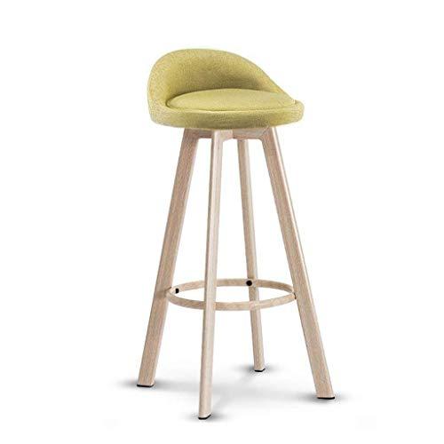 NUBAOgykongtiao Silla de comedor, taburete de bar con rotación de patas de madera, silla de desayuno, hogar, bar, cafetería, taburete alto (color: azul) (color: verde)
