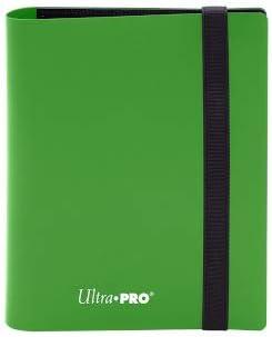 Ultra Pro E-15369 Eclipse Pro - Carpeta de 2 Bolsillos, Color Verde Lima