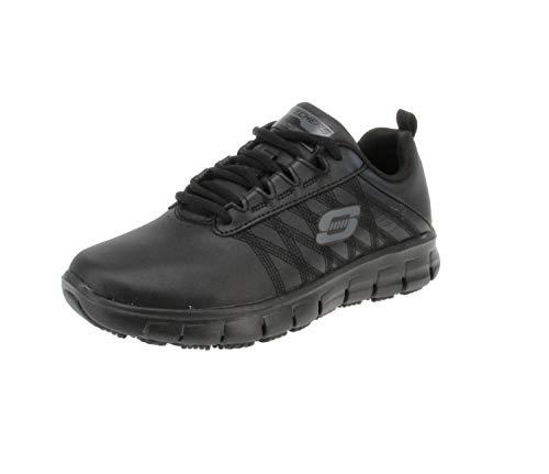 Skechers Sure Track-Erath-II, Zapatillas Mujer, Negro (Blk Black Leather), 37 EU