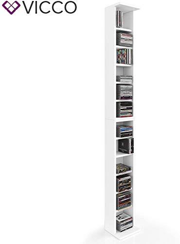 Vicco CD Regal DVD Ständer Rack Wandregal Hängeregal Bücherregal Büroregal Bücherregal Farbauswahl