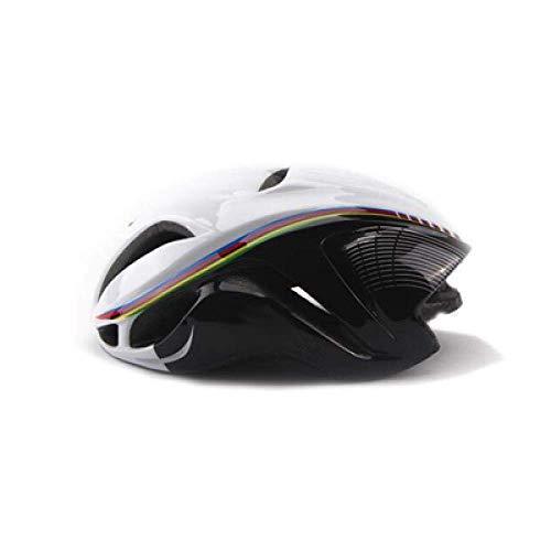 YXDEW Road Racing Triathlon Aero Casco de Ciclista Ciudad de MTB Montaña Evasión Bicicletas Equipamiento Bicicletas Casco Motocicleta (Color : White Black)