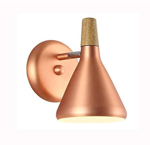 Nachtlampje notenhout Nordic LED E27