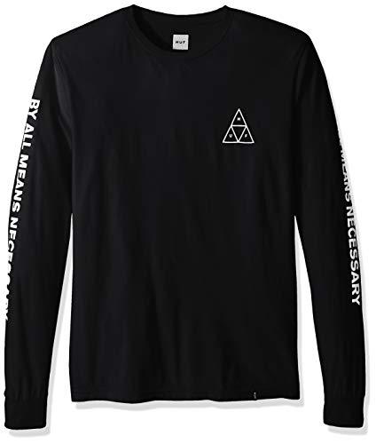 HUF Herren Essentials TT L/S Tee T-Shirt, schwarz, Mittel