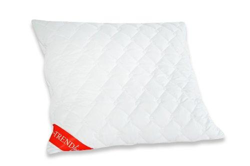 Badenia 8772030-01 Bettcomfort Kissen Trendline Micro Kochfest, 80 x 80 cm weiß