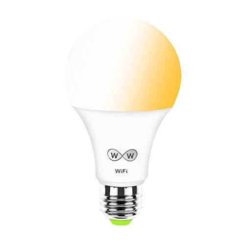 LED WiFi intelligent Glühbirne, CCT Farbtemperatur einstellbar Weiß, Warmweiß E27 6.5W 2700K zu 6500K Dimmbar, Funktioniert mit Amazon Echo Alexa Google Home