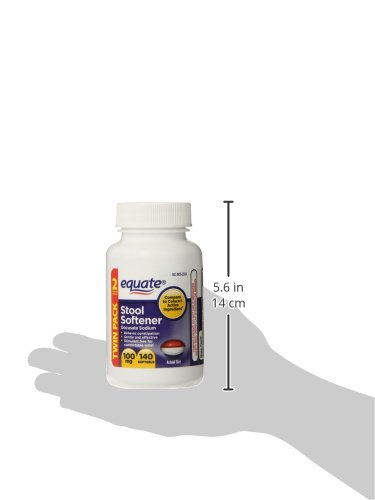Equate Colace TwinPack 280 - Two bottles 100mg, 140 Capsules Compare to Colace