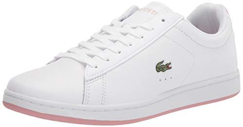 Lacoste womens Women's Carnaby Evo Sneaker, Wht/Lt Pnk, 7.5 US