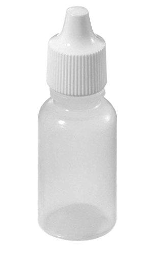 Idealgo Pack of 50 Plastic Bottle Eye Liquid Dropper Dropping Bottles (5ml)