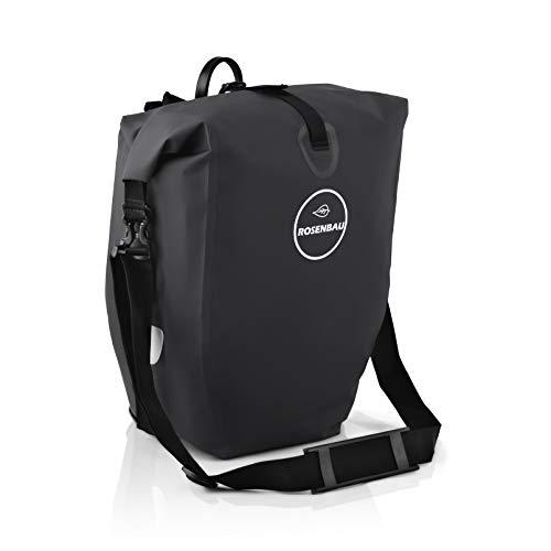 Rovativ® Fahrradtasche für Gepäckträger | Fahrrad-Tasche Wasserdicht 25L | Satteltasche, Gepäckträgertasche mit reflektierendem Logo und Quicksafe Halterung