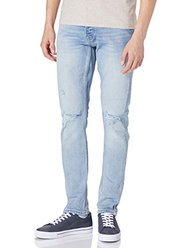 Only & Sons ONSLOOM Life Slim Destroy DCC8617 Jeans, Blue Denim, 38 Homme