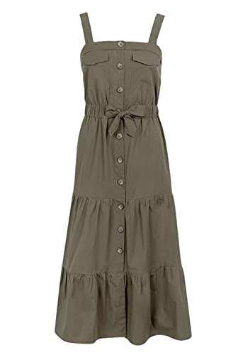 Tiffosi Vestido largo tirantes vaporoso - XS, Verde