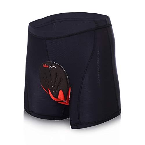 Shorts SKYSPER Caleçon de Cyclisme pour Homme Respirant Confortable Séchage Rapide de sous-Vêtements Shorts de Vélo avec Gel 3D Rembourré pour VTT Sport Taille L-XXXXL Noir