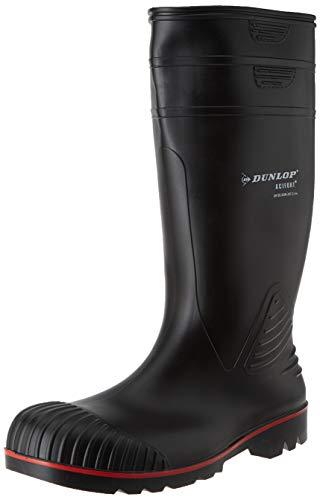 Dunlop Protective Footwear Acifort Heavy Duty full safety Unisex-Erwachsene Gummistiefel, Schwarz, 39