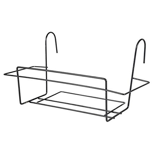 Acan La Bolata - Soporte de Metal para Jardinera de balcón 50 cm. Soporte de maceteros y Plantas para parapetos y barandas con Gancho
