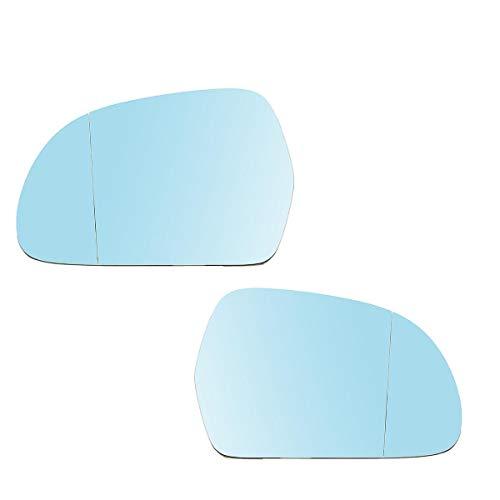 IJEOKDHDUW Coche Azul Izquierdo Derecho retrovisor Espejo de Cristal para Audi A4...