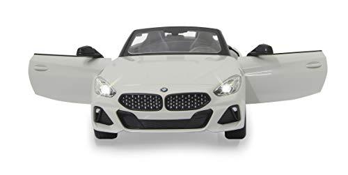 JAMARA 405174 - BMW Z4 Roadster 1:14 2,4GHz Tür manuell - offiziell lizenziert, bis 1 Std Fahrzeit, ca. 11 Kmh, perfekt nachgebildete Details, detaillierter Innenraum, LED Licht