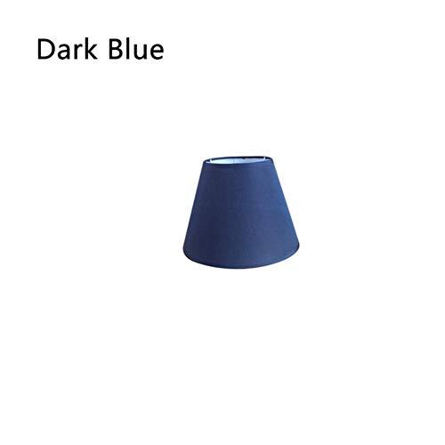 Coner stoffen kap moderne lichtkap voor wandlamp Tafellamp Woondecoratie Stoffen lampenkappen Art Deco massieve lampenkap, donkerblauw