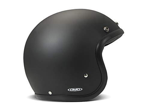 DMD Vintage Mattschwarz Open Face Helm Jethelm Motorradhelm, L