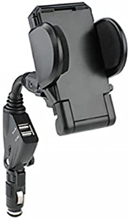 2010kharido Car Charger/Mount with Dual USB Ports for Smart Phone up to 6.3""