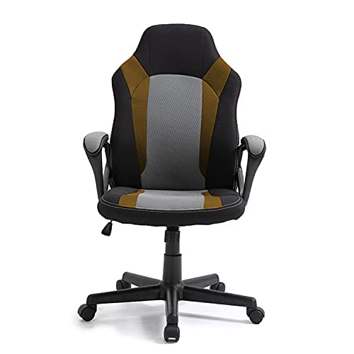 Racing Style Mesh Gaming Chair, Adjustable Height High-Back PU Computer Office Chair with Headrest Executive Desk Chair (Black, Green)