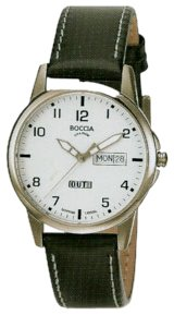 Boccia Herren-Armbanduhr Mit Lederarmband Sport 604-12