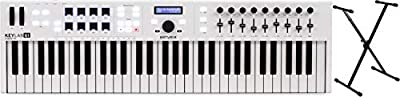 Arturia KeyLab Essential 61 61-key Keyboard Controller + On-Stage Stands KS7190 Classic Single-X Stand Value Bundle by On-Stage Stands + Arturia