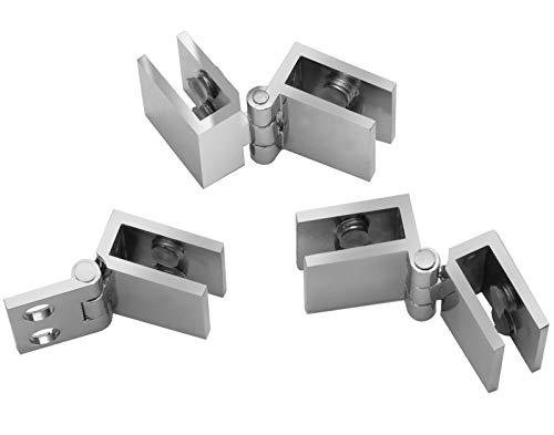 Glazen deur scharnier 6-8,76 mm deurbeslag deurband glas vitrine 6 mm 8 mm inwendige aanslag liggend Model A