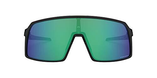 Oakley Men's OO9406 Sutro Shield Sunglasses, Black Ink/Prizm Jade, 137 mm