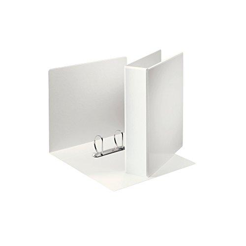 Leitz 49742 - Archivador (A4, de 2 anillas, con bolsillos, 50 mm, polipropileno), color blanco