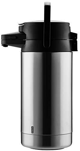 Helios Coffeestation Pump-Isolierkanne, Edelstahl, 3,5 Liter
