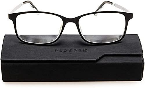 PROSPEK: ARCTIC Gafas con lente transparente y bloqueo de luz azul. Alivio para vista cansada por el ordenador. Verás colores vivos y protegerás tus ojos (+2.00 Aumento)