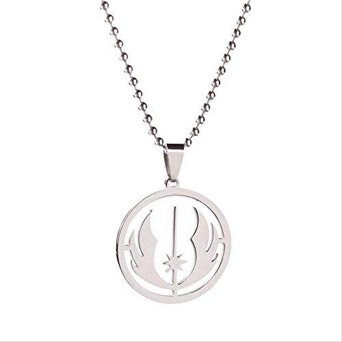 BACKZY MXJP Halskette Halskette Star Wars Jedi Order Symbol Edelstahl Halskette T 23.7 Perlenkette