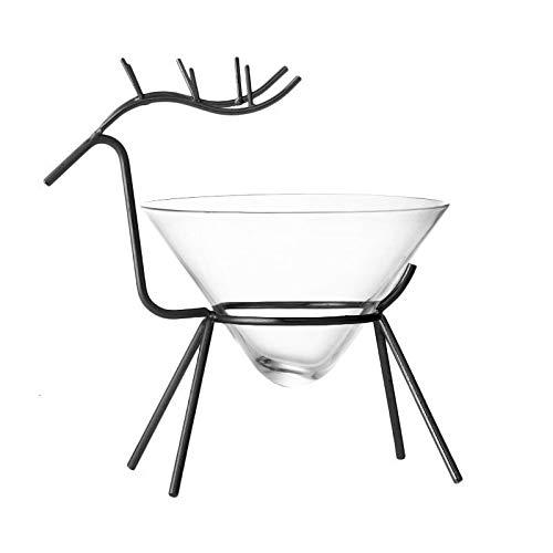 TSP Accesorios para vino Nordic Creative - Soporte de alce para bebidas especiales moleculares para cócteles, fiestas, bodas, champán, vino, Martini (capacidad: 160 ml, color: negro)