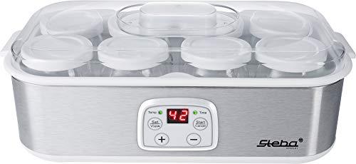 Steba JM 3 Yogurt Maker, Plastica, Acciaio Inox/Bianco