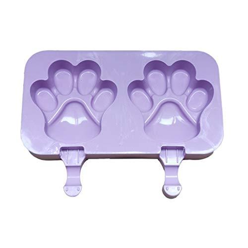 Eariy Silikon Eisformen,Wiederverwendbares DIY-Eiswürfel-Werkzeug mit Abdeckung und 50 Holzstäbchen,100% Lebensmittelsilikon,BPA frei,Einfach zu säubern (E)